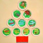 Adventures of Adam Plate Plate Christmas Tree made by a toddler