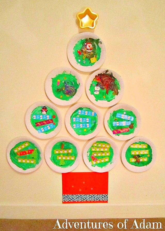 Adventures of Adam Plate Plate Christmas Tree made by a toddler  sc 1 st  Adventures of Adam & Paper Plate Christmas Tree