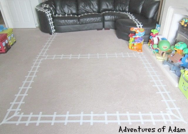 Adventures of Adam Polar Express Masking Tape Train Track