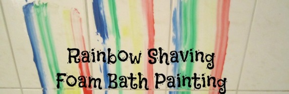 Rainbow Shaving Foam Bath Painting