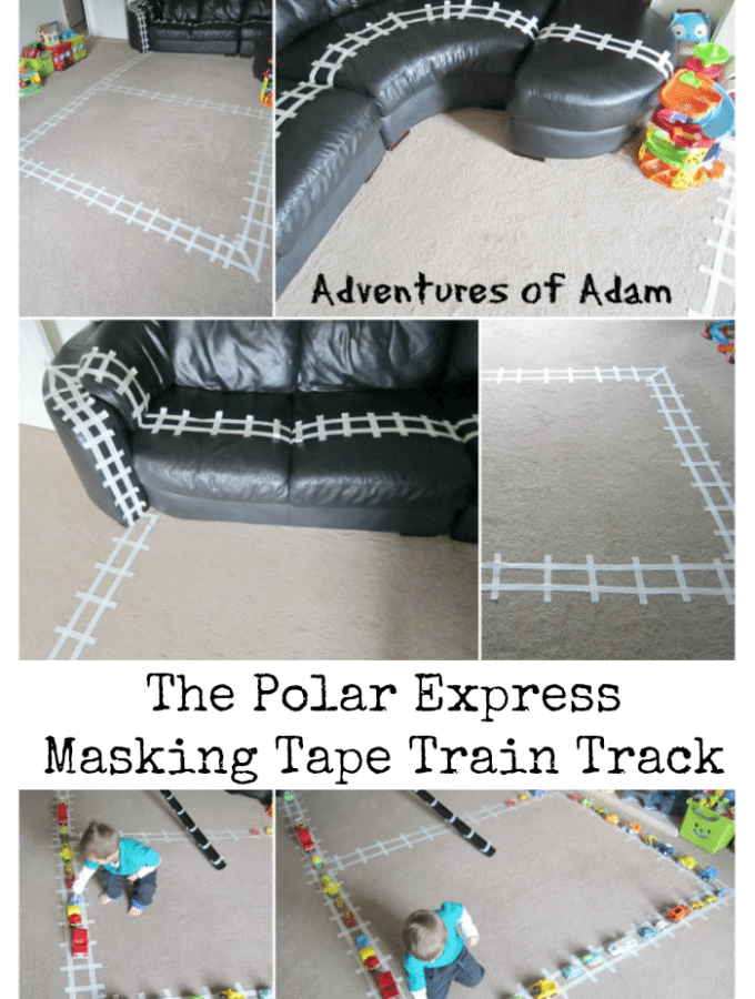 The Polar Express Masking Tape Train Track