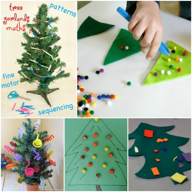 Adventures of Adam Toddler Christmas Tree Fine Motor Skills
