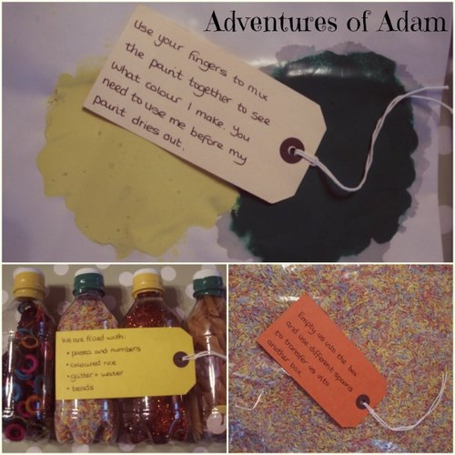 Adventures of Adam home made Toddler Activity Gift Box