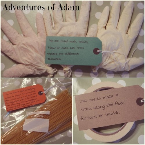 Adventures of Adam DIY sensory box