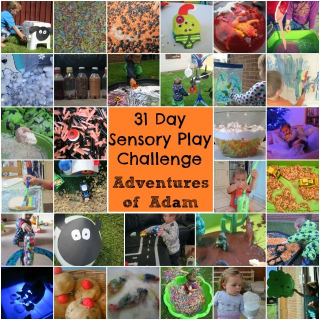 Adventures of Adam 31 day sensory play challenge