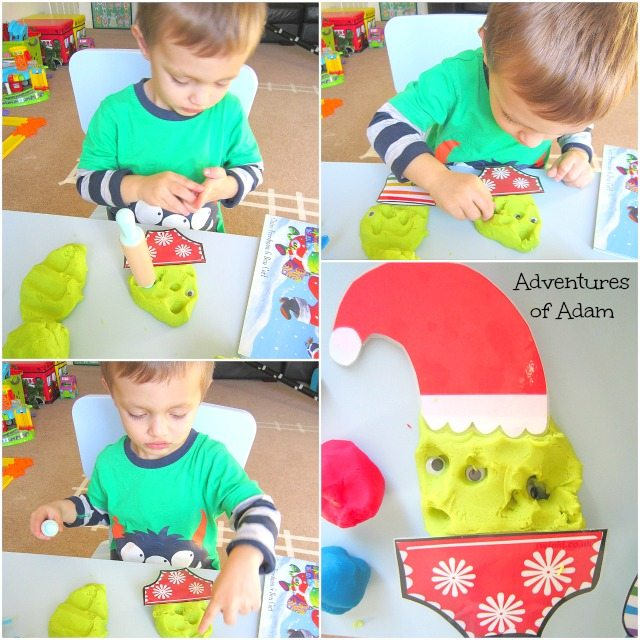 Adventures of Adam Aliens Love Panta Claus playdough