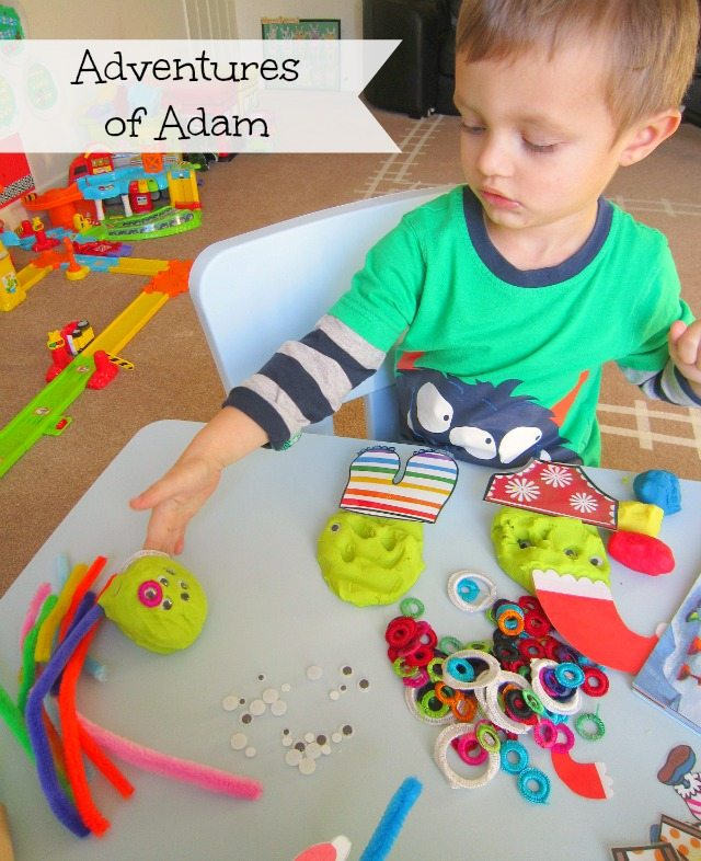 Adventures of Adam Aliens Love Panta Claus Christmas playdough