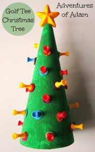 Adventures of Adam Decorated golf tree christmas tree