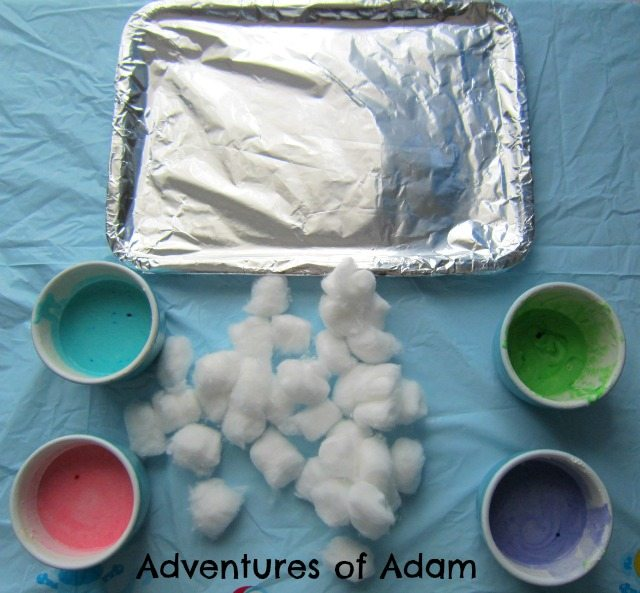 Adventures of Adam Setting up Baked Cotton Wool Balls