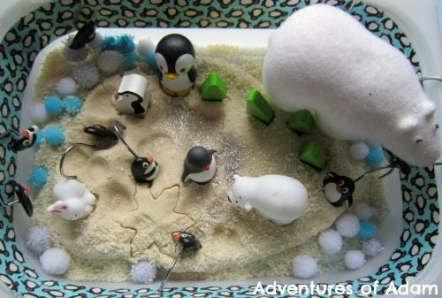Adventures of Adam Arctic sensory bin