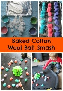 Baked Cotton Wool Ball Smash Adventures of Adam