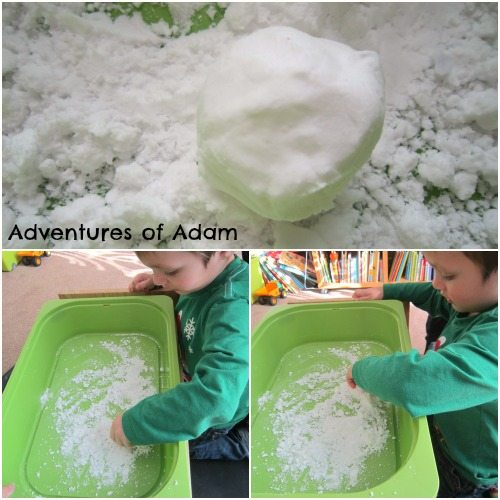 how to make artificial snow with baking soda