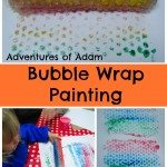 Adventures of Adam Bubble Wrap Painting