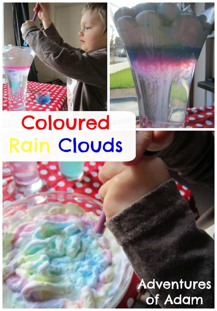 Adventures of Adam Coloured rain clouds adventures of adam