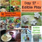 Adventures of Adam Day 27 - Edible play 31 day sensory play challenge
