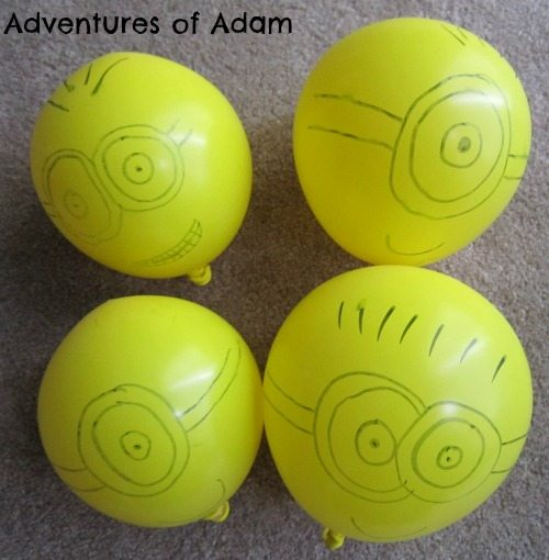 Adventures of Adam Home made minion balloons
