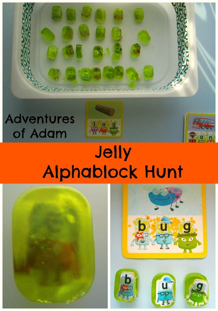 Adventures of Adam Jelly Alphablock Hunt