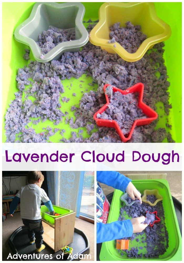 Lavender Cloud Dough Adventures of Adam