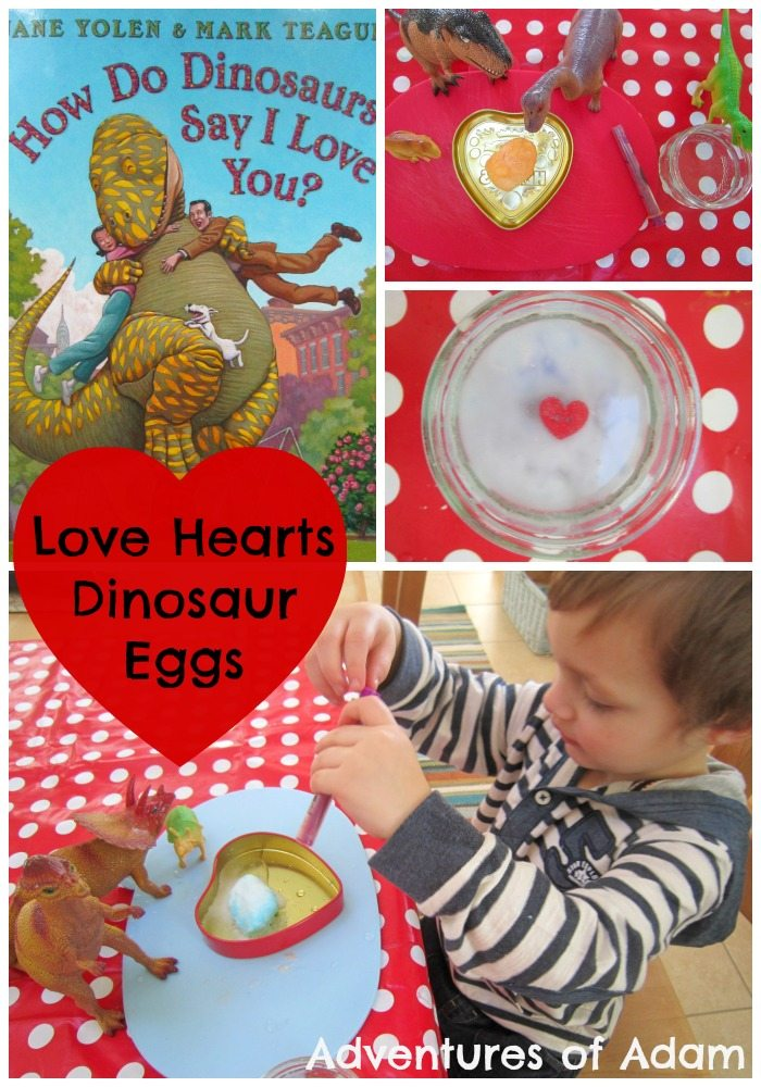 Love Hearts Dinosaur Eggs Adventures of Adam