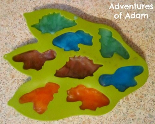 Adventures of Adam Making coloured ice dinosaurs