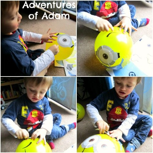 Adventures of Adam Making minion balloons