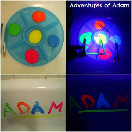 Adventures of Adam Making neon paint for the bath