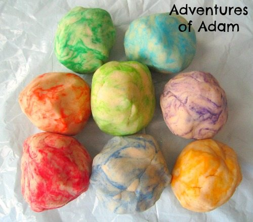 Adventures of Adam Marbled playdough
