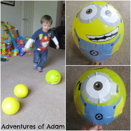 Adventures of Adam Minion balloon play