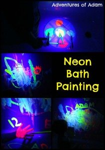 Adventures of Adam Neon Bath Painting