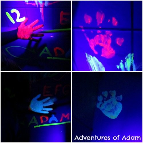 Adventures of Adam Neon hand painting