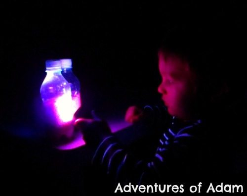 Adventures of Adam Neon sensory bottle