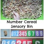 Number Cereal Sensory Bin Adventures of Adam