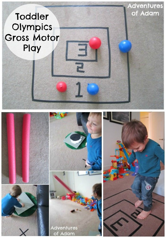 O is for olympics gross motor play for Indoor gross motor activities