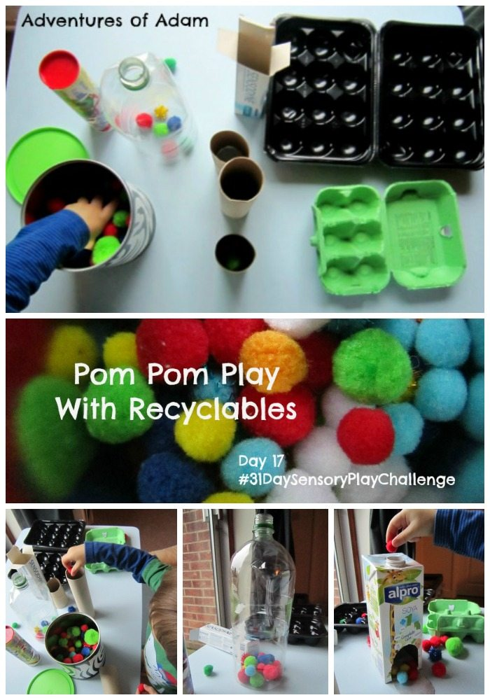 Adventures of Adam Pom Pom Play With Recyclables