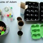 Adventures of Adam Pom poms and recyclables