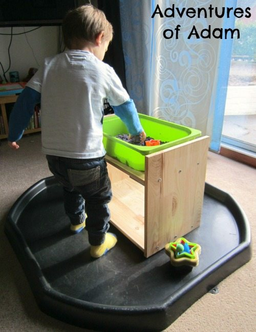 Adventures of Adam Sensory bin stand