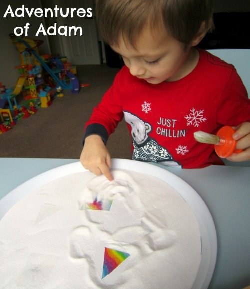 Adventures of Adam Sensory play using kitchen cupboard items