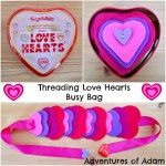 Adventures of Adam Threading love hearts busy bag Adventures of Adam