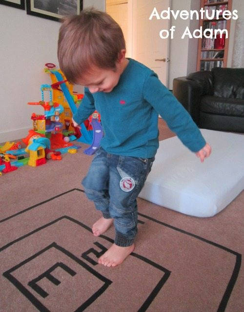 Adventures of Adam Toddler indoor long jump
