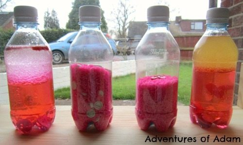Adventures of Adam Valentine Sensory Bottles
