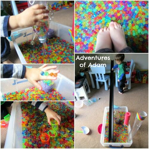 Adventures of Adam Ways to play with water beads