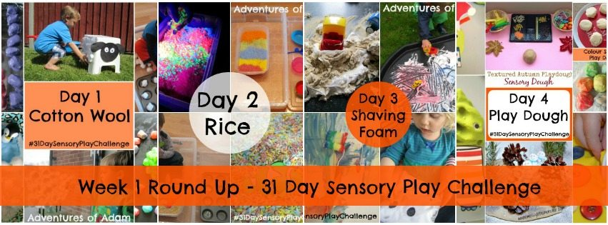Week 1 Round up 31 Day Sensory Play Challenge