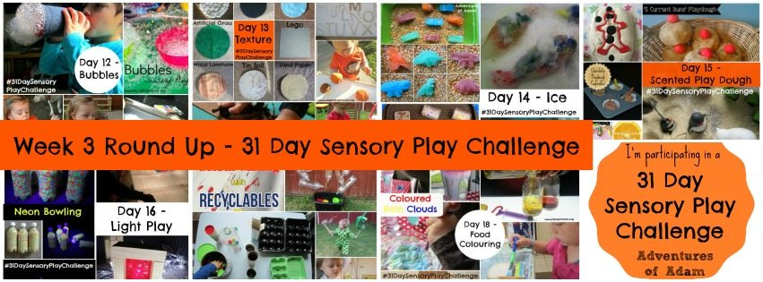 Adventures of Adam week 3 31 day sensory play challenge