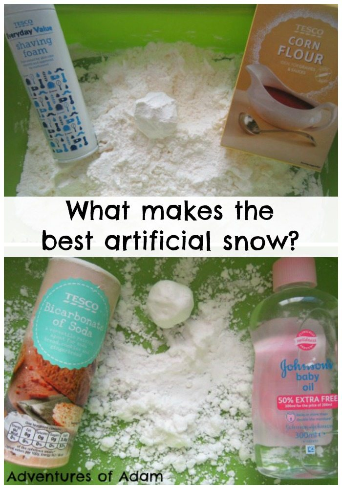 Adventures of Adam What makes the best artificial snow