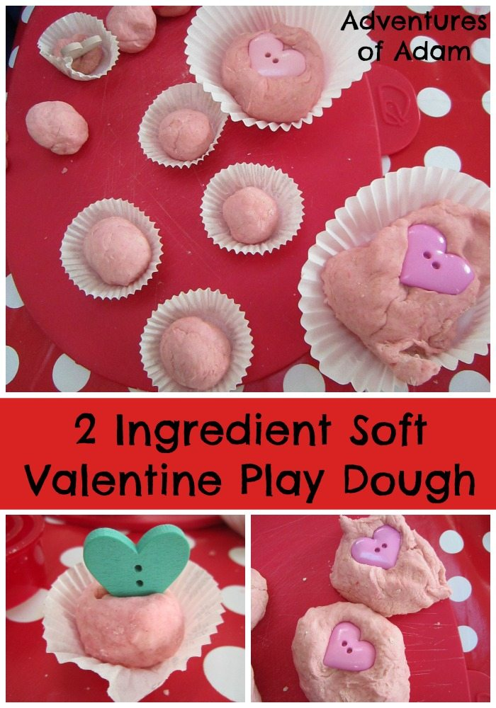 2 Ingredient Soft Valentine Play Dough Adventures of Adam