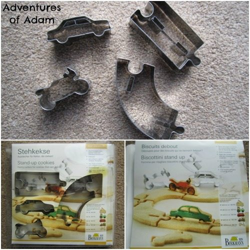 Adventures of Adam Car stand up cookie cutters
