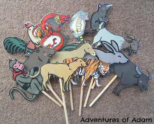 Adventures of Adam Chinese New Year animal puppets