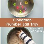 Cinnamon Number Salt Tray