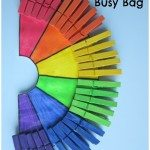 Adventures of Adam Clothespin Rainbow Busy Bag