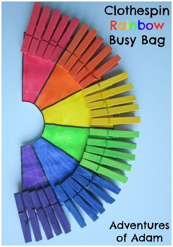 Clothespin Rainbow Busy Bag
